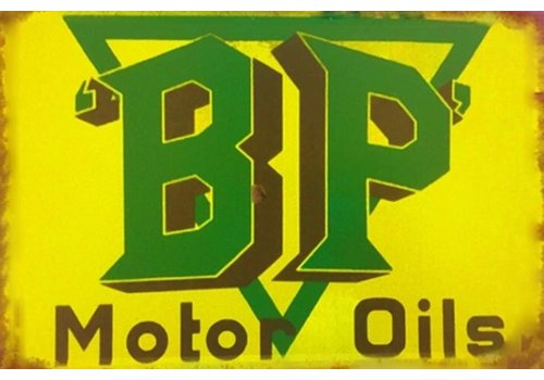 Metalen logo gevelbord BP Motor Oils