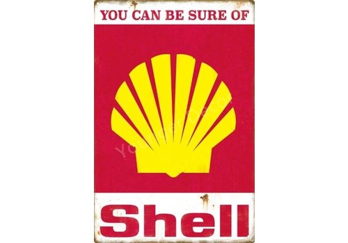 Metalen logo gevelbord You can be sure of Shell