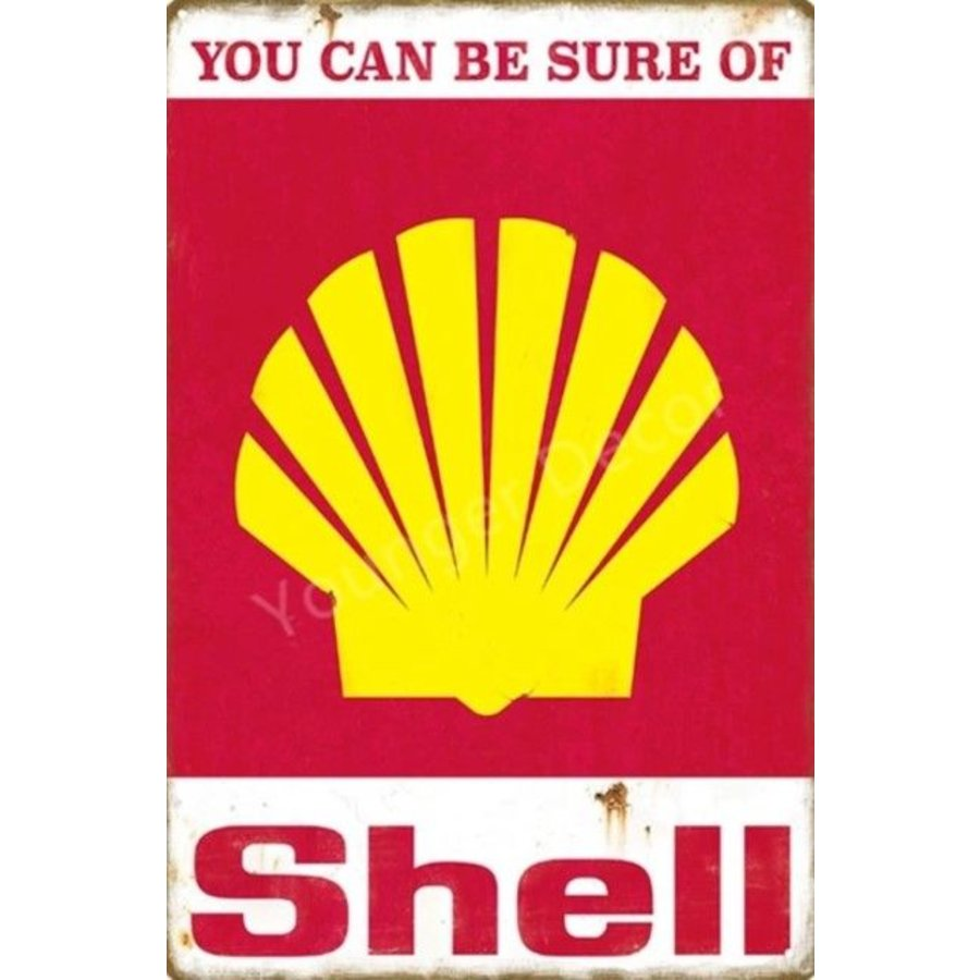 Metal logo facade board You can be sure of Shell