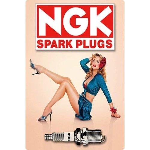 Metal logo facade board NGK Spark Plugs