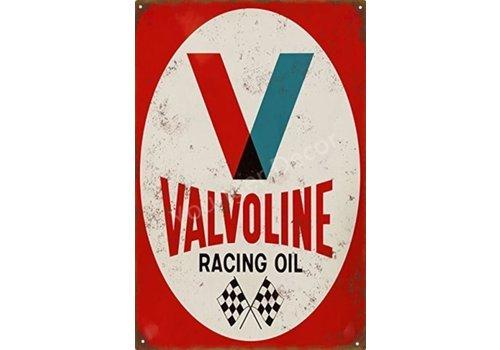 Metal logo facade board Valvoline