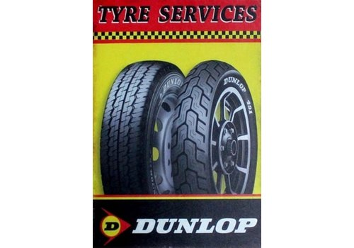 Metal logo facade board Dunlop Tire Services