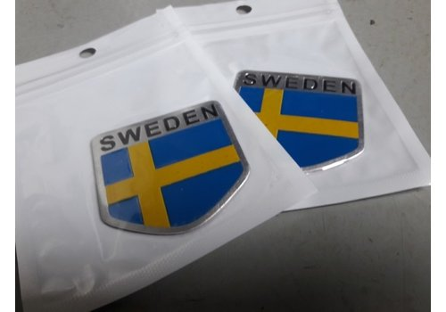 Emblem Swedish flag 3D aluminum 392000 NEW Volvo