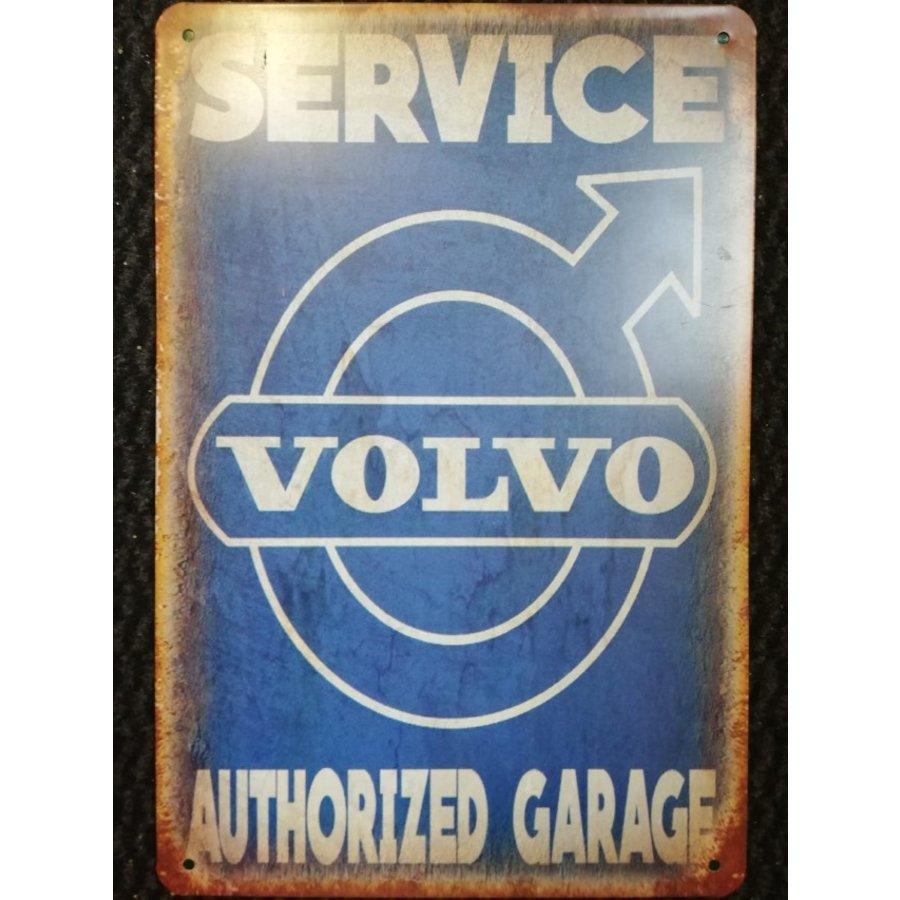 Metalen logo gevelbord Service Volvo authorized garage