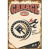 Non-original Metalen logo gevelbord Garage Auto Repair