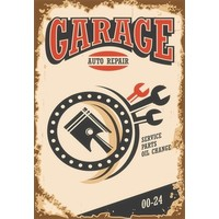 Metalen logo gevelbord Garage Auto Repair