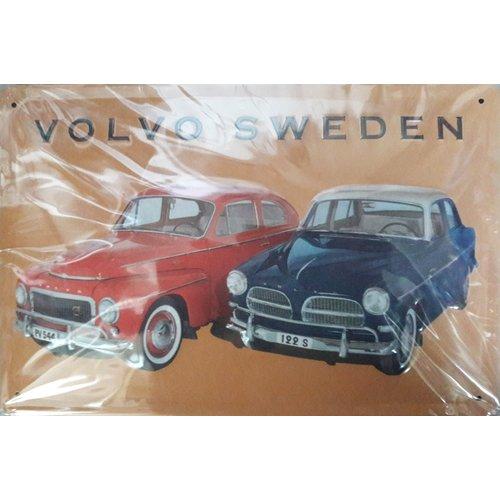 Metal billboard in relief Volvo Sweden