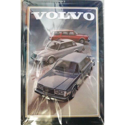 Metal billboard in relief Volvo 200 series