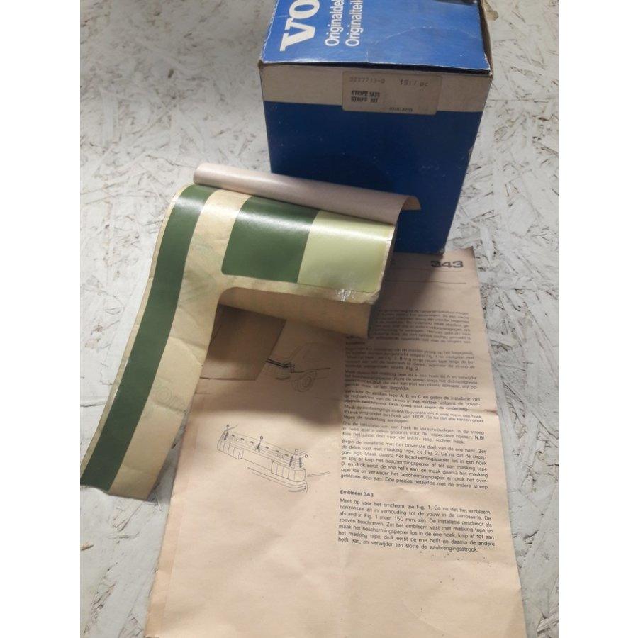 Striping kit kofferbak achterzijde groen 3277713-8 NOS Volvo 343, 345