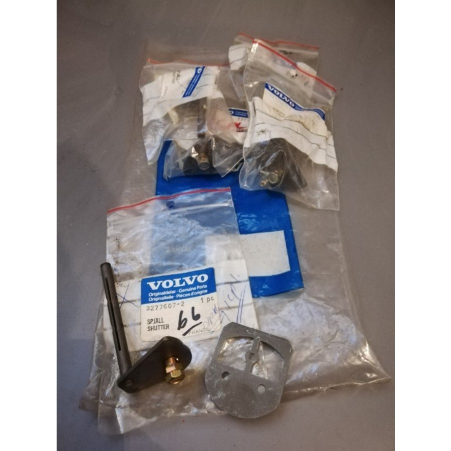 Chokeklep met as voor Solex carburateur 3277607 NOS Volvo 66