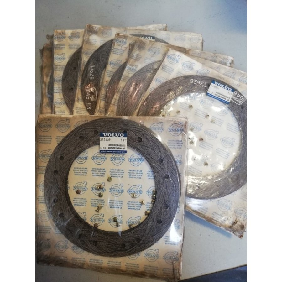 Separate liner with rivets clutch plate B19 / B20 / B21A engine 275935 NOS Volvo 240, 260, 740, 760
