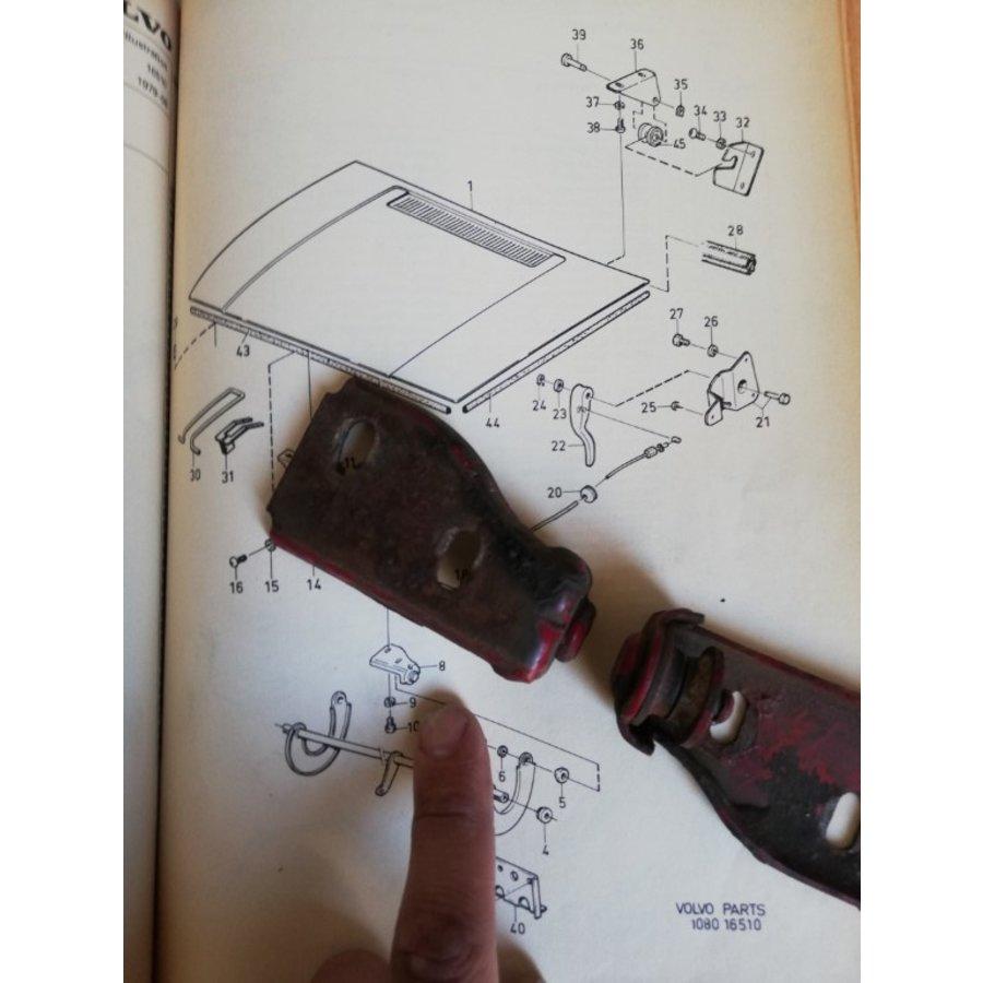 Bonnet mounting bracket 3267556/3267557 used DAF, Volvo 343, 345