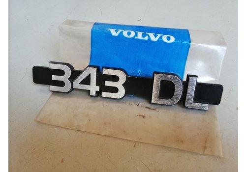 Belettering embleem achterzijde kofferbak 3282441-9 NOS Volvo 343