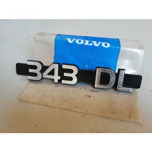 Lettering emblem on the rear of the trunk 3282441-9 NOS Volvo 343