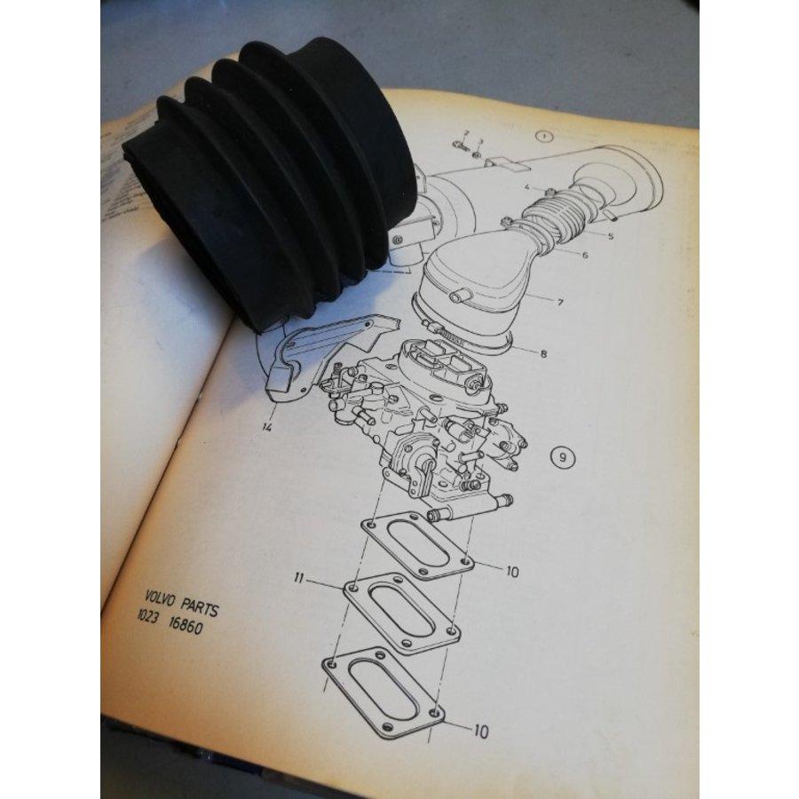 Air hose rubber air filter housing carburetor 3290378-3 NOS NEW Volvo 343, 345