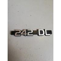 Emblem trunk rear door '242DL' 1202413 used Volvo 242