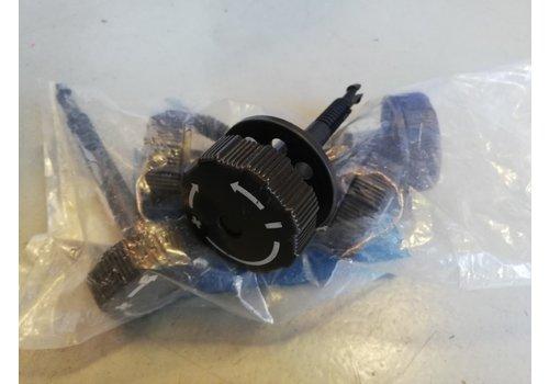 Rotary knob seat adjustment lumbar support 3204651-8 used Volvo 340, 360