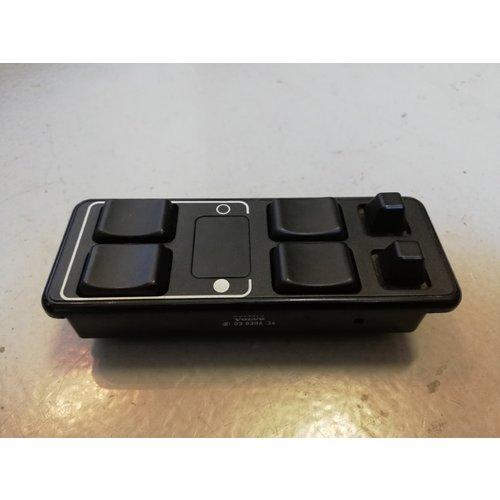 Schakelaar paneel electrisch bedienbare ramen en buitenspiegel schakelaars 3544300 gebruikt Volvo 740, 940, 960