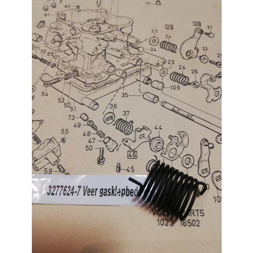 Spring throttle valve control Weber carburetor 3267624-7 NEW Volvo 343, 345, 340