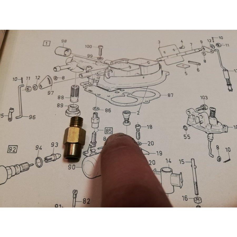 Huis vlotternaald Weber carburateur 3267737-9 NOS Volvo 343, 345, 340