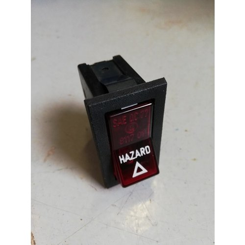 Hazard lamp switch 1258494 used Volvo 240, 260 - Copy