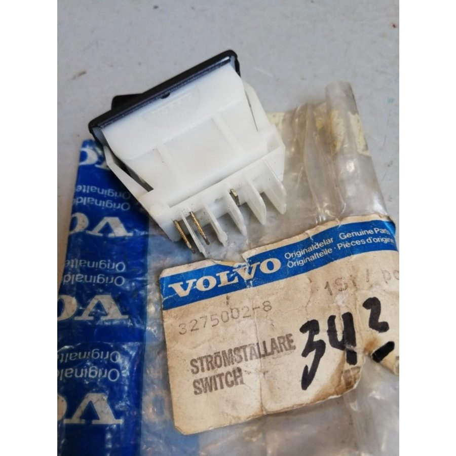 Heated rear window switch 3275002-8 '76 -'79 Volvo 343, 345