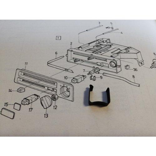 Montageklem schakelaar vacuumbediening verwarming 3210224-6 NOS Volvo 340, 360