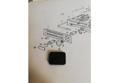 Cover plate heater ventilation control panel 3210044-8 NOS Volvo 340, 360