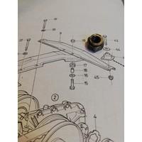 Nut mounting suspension CVT transmission 3120576-8 used Volvo 343, 345, 340