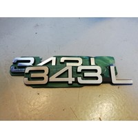 Lettering emblem on the rear of the trunk 3282077-1 NOS Volvo 343 - Copy