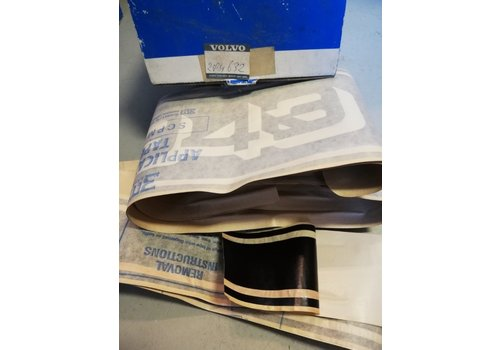 Striping kit rear fender RH black 284632 NOS Volvo 343, 345, 340, 360
