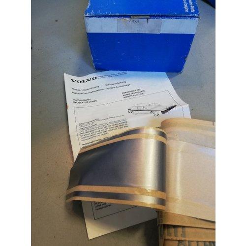 Striping kit rear fender alu / silver 284538 NOS Volvo 343, 345, 340, 360