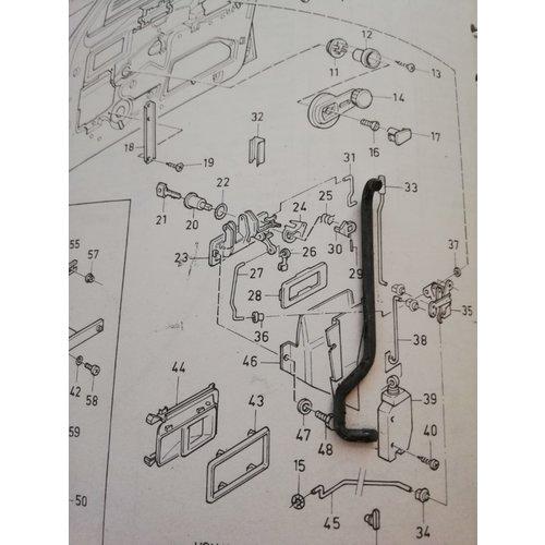 Stang portiervergrendeling 4/5 drs voorzijde LH 3272056 Volvo 340, 360