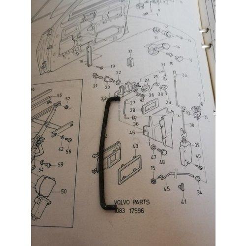 Stang portiervergrendeling 4/5 drs voorzijde LH 3276996-0 gebruikt Volvo 340, 360