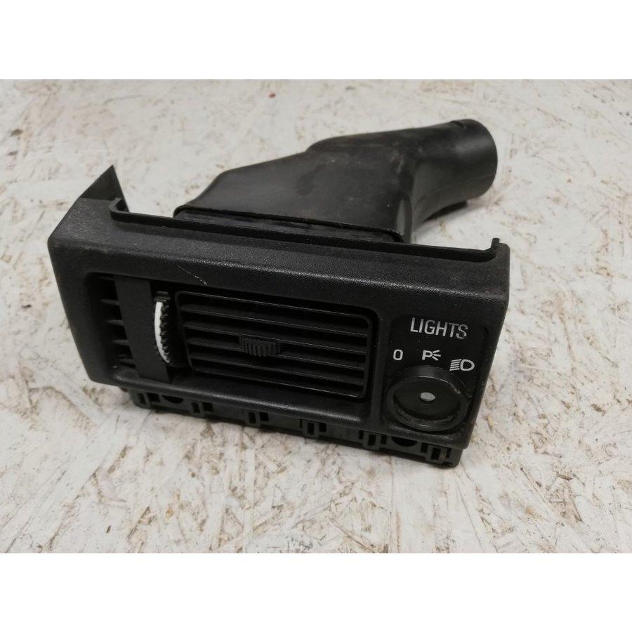 Luchtrooster ventilatie LH lichtschakelaarpaneel 1234533 gebruikt Volvo 240, 260