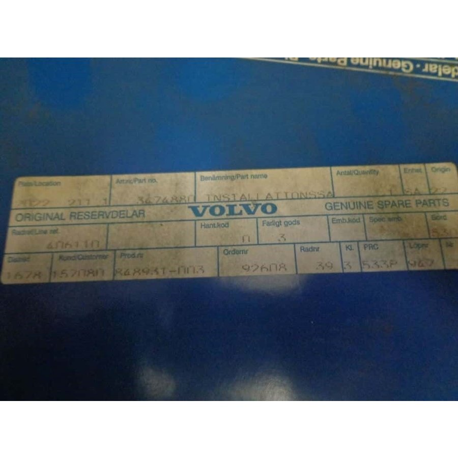 Mounting set guard alarm 3474880 NOS Volvo 440, 460