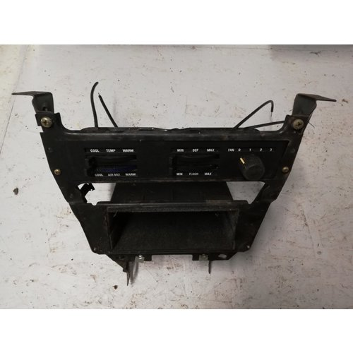 Frame center console dashboard heater slide ventilation control used Volvo 240, 260