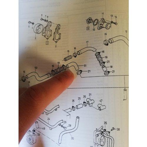 Koelwaterslang radiateur B18E motor3451855 NIEUW Volvo 440, 460
