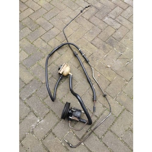 Power steering pump with reservoir and pipes complete 3413725 uses Volvo 480