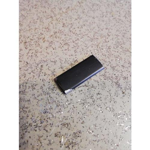 Verbindingsclip sierlijst voorruit zwart 3207870-1 gebruikt vanaf CH121000- Volvo 340, 360