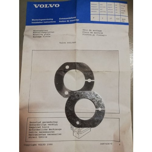 Ring montage trekhaakcontact 7-polig 3497436-0 NOS Volvo 440, 460