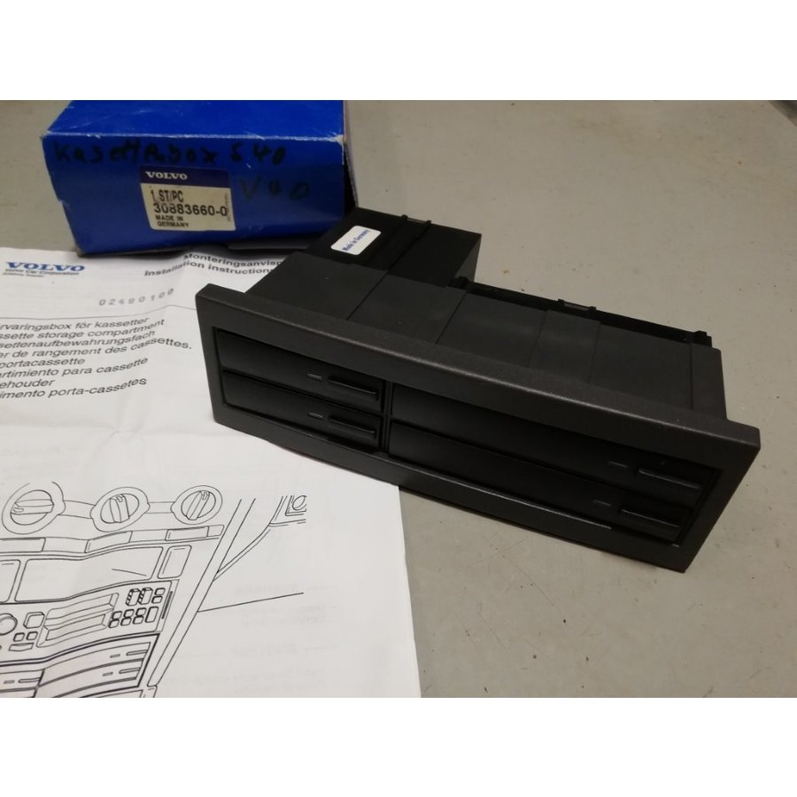 Cassette storage compartment 30883660-0 NOS Volvo S40, V40