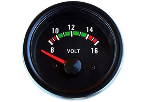 Voltmeter for instrument panel NEW Universal Volvo 66, 100, 200, 300, 700 and 900 series