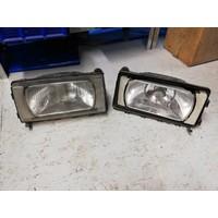 Headlight set H4 LH / RH 1321649/1321650 used until 1989 Volvo 740, 760