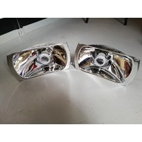 Headlight reflector RHD 3287138/3287139 * CHROMED AGAIN * Volvo 340, 360