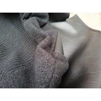 Bekleding zitting stoel zwart stof met leren zijkant 3278232 NOS Volvo 340, 360