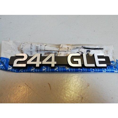 Embleem '244GLE' 1246718 NOS '79-'80 Volvo 240, 244
