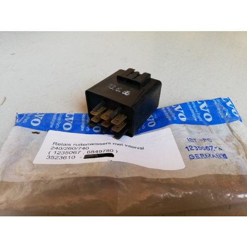 Relay, interval wiper 3523610 NOS Volvo 200, 700 series