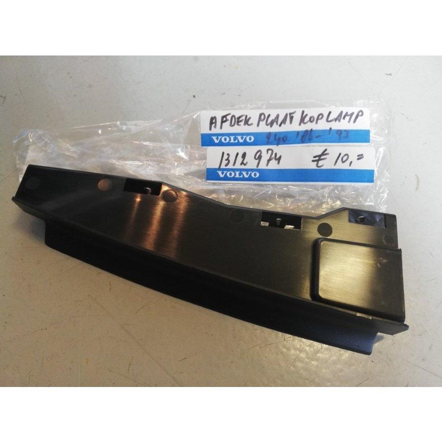 Afdekplaat koplamp RH 1312974 NOS '86-'93 Volvo 240