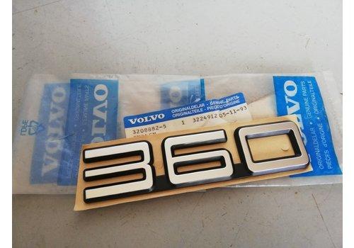 Embleem '360' 3208882 NOS vanaf CH.121000 Volvo 360